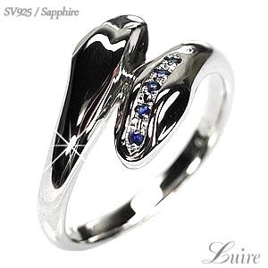 シルバー 【送料無料】【9月の誕生石】ヘビ指輪 メンズリング SV925 天然サファイア 誕生日 プレゼント 自分ご褒美