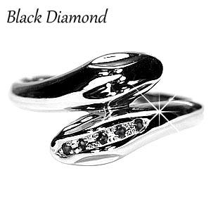 【4月の誕生石】ブラックダイヤモンド 巳年 ヘビリング 蛇リング スネークリング 金運 K10ゴールド 誕生日 プレゼント 自分ご褒美 【送料無料】