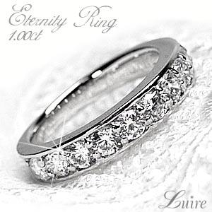 プラチナ900 結婚10周年 エタニティリング ダイヤモンドリング 1.00ct エタニティ SIクラス 誕生日プレゼント彼女 指輪 自分ご褒美 【送料無料】