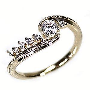 18K K18ゴールド ピンキーリング ダイヤモンド リング 誕生日 プレゼント 彼女 指輪 【K18WG】【K18YG】【K18PG】 【送料無料】
