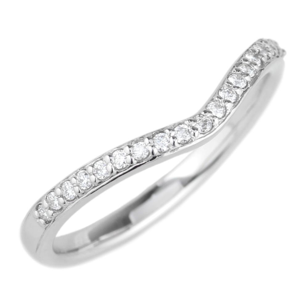 プラチナ900 【送料無料】ダイヤリング V字 結婚指輪 天然ダイヤモンド ギフト 誕生日 プレゼント 結婚記念