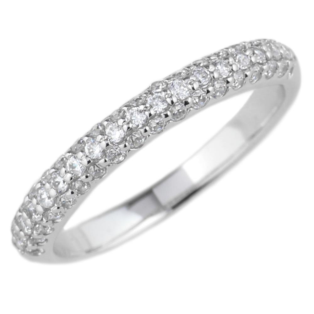 18K K18ゴールド パヴェリング エタニティリング 0.40ct ダイヤ指輪 K18 ゴールド 天然ダイヤモンド 結婚記念 誕生日 鑑定書プレゼント 結婚指輪