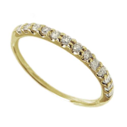 18K K18ゴールド 【送料無料】エタニティ リング ダイヤ0.20ct K18 ゴールド 天然ダイヤモンド 結婚記念 誕生日 鑑定書プレゼント 彼女 指輪 ホワイトゴールド 自分ご褒美 結婚指輪