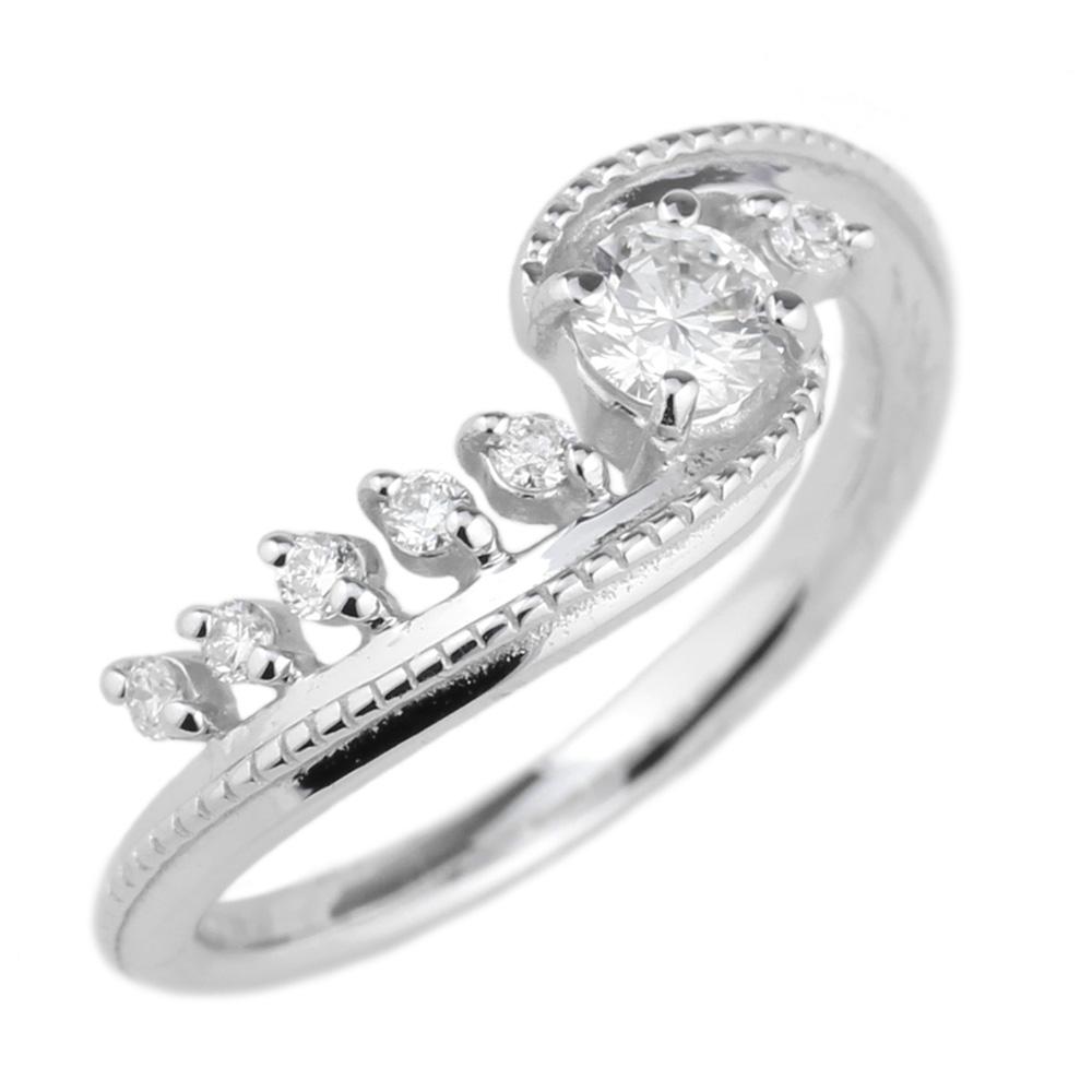 プラチナ900 ピンキーリング ダイヤモンド リング 誕生日 プレゼント 彼女 指輪  【送料無料】