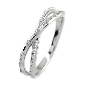 【送料無料】ダイヤリング クロス 結婚指輪 天然ダイヤモンド プレゼント 誕生日 彼女 プラチナプラチナ900