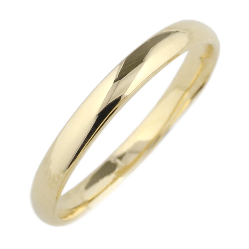 18K K18ゴールド 【送料無料】 地金リング K18YG ストレート結婚指輪 誕生日 シンプル 自分ご褒美K18イエローゴールド 彼女 指輪