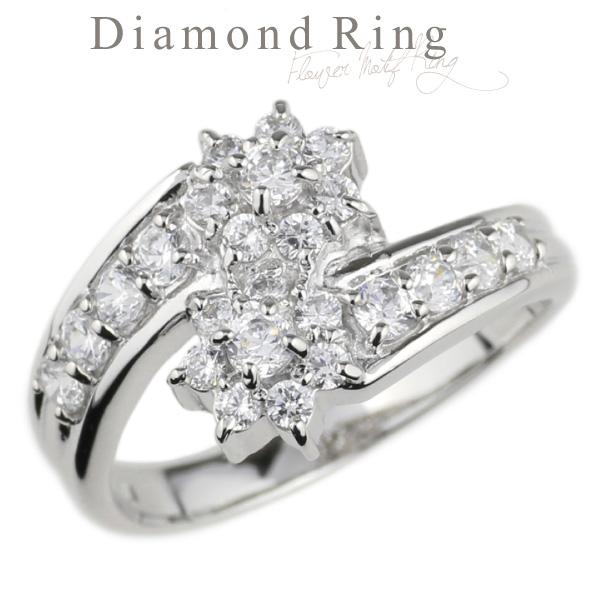 指輪 レディース リング ダイヤモンド フラワーモチーフリング 豪華 プラチナ900 PT900 ダイヤリング ツインフラワー お花 人気 かわいい 可愛い 上品 エレガント 華やか 婚約 結婚 プレゼント ギフト 誕生日 記念日 クリスマス ホワイトデー 自分ご褒美