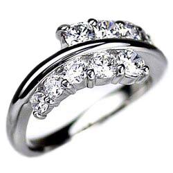 婚約指輪 【送料無料】ダイヤモンド10 ダイヤ1.00ctSI-クラスK18WG 誕生日 指輪 プレゼント ギフト 彼女 ゴールド 結婚記念 自分ご褒美