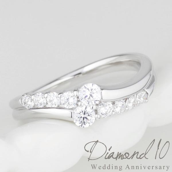 人気定番 プラチナ900 結婚10周年 ダイヤリング VSクラス スイート 10ダイヤモンド 10周年 結婚記念 誕生日 プレゼント 彼女 指輪 プラチナ 自分ご褒美, 再生屋 8804d01e