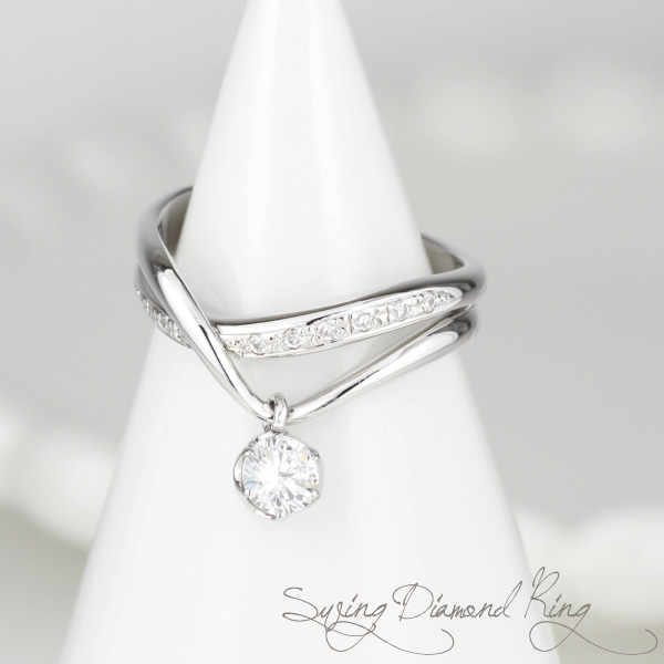 プラチナ900 【送料無料】ブラリング ダイヤ.SIクラス0.40ct 婚約指輪 天然ダイヤモンド