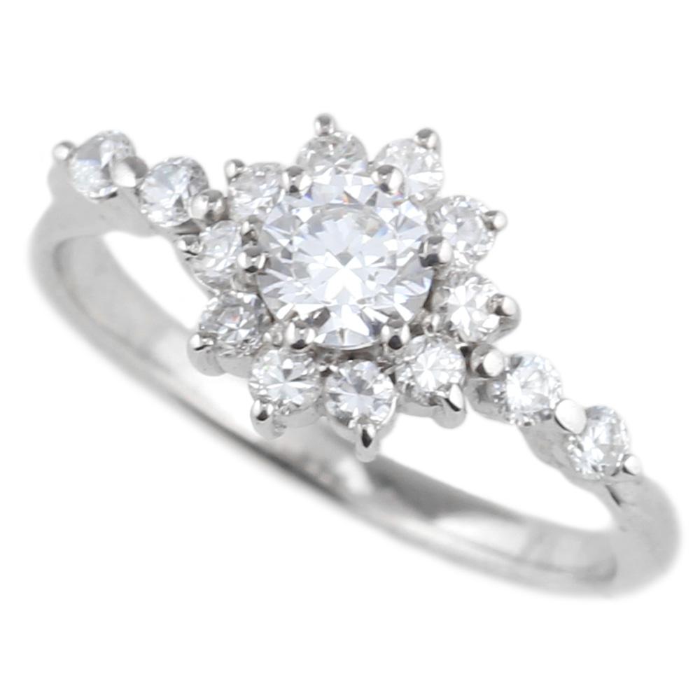 婚約指輪 【送料無料】ダイヤリング0.65ct SIクラス プラチナ900 エンゲージリング指輪 鑑定書 彼女 プラチナ ギフト