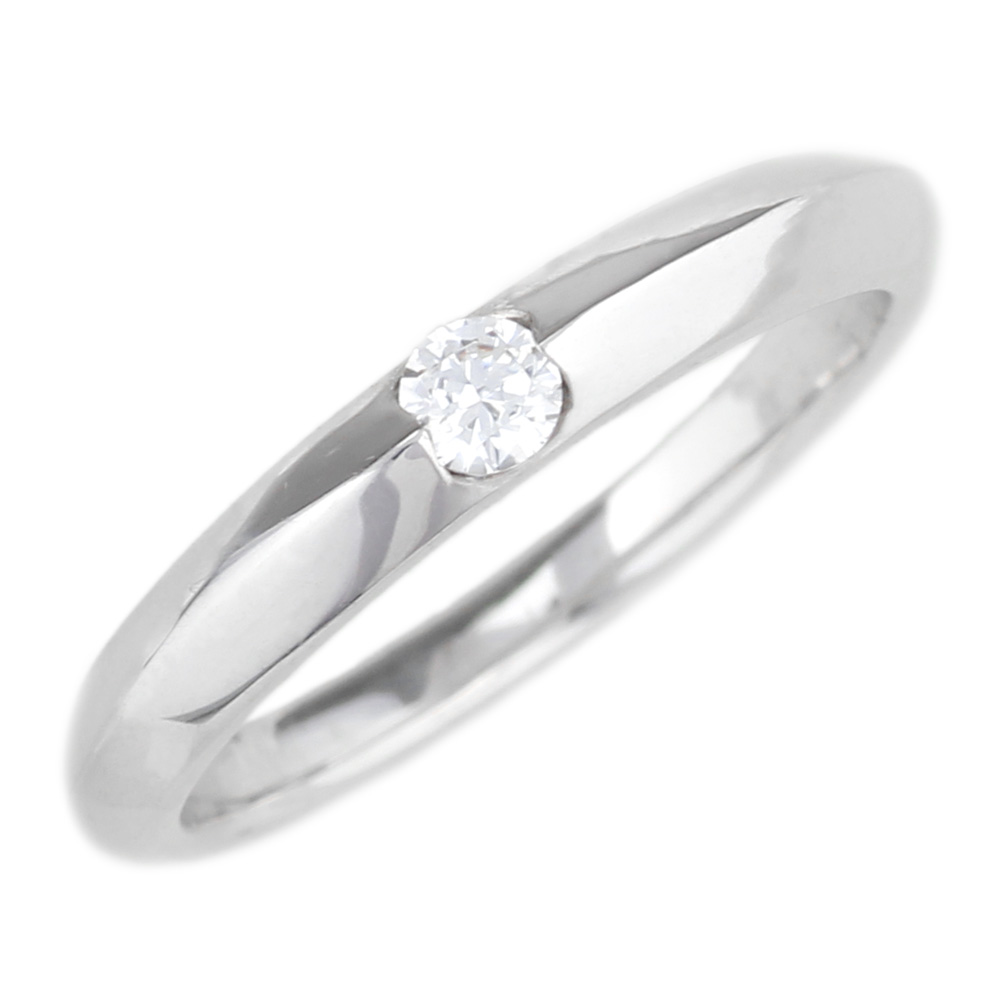 プラチナ900 【送料無料】ダイヤ0.10ct 一粒石リング 天然ダイヤモンド 誕生日 ストレート 指輪 プレゼント