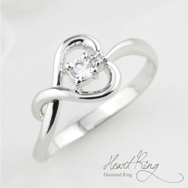 プラチナ900 ハート リング ダイヤモンド リング 誕生日 プレゼント 指輪  【送料無料】