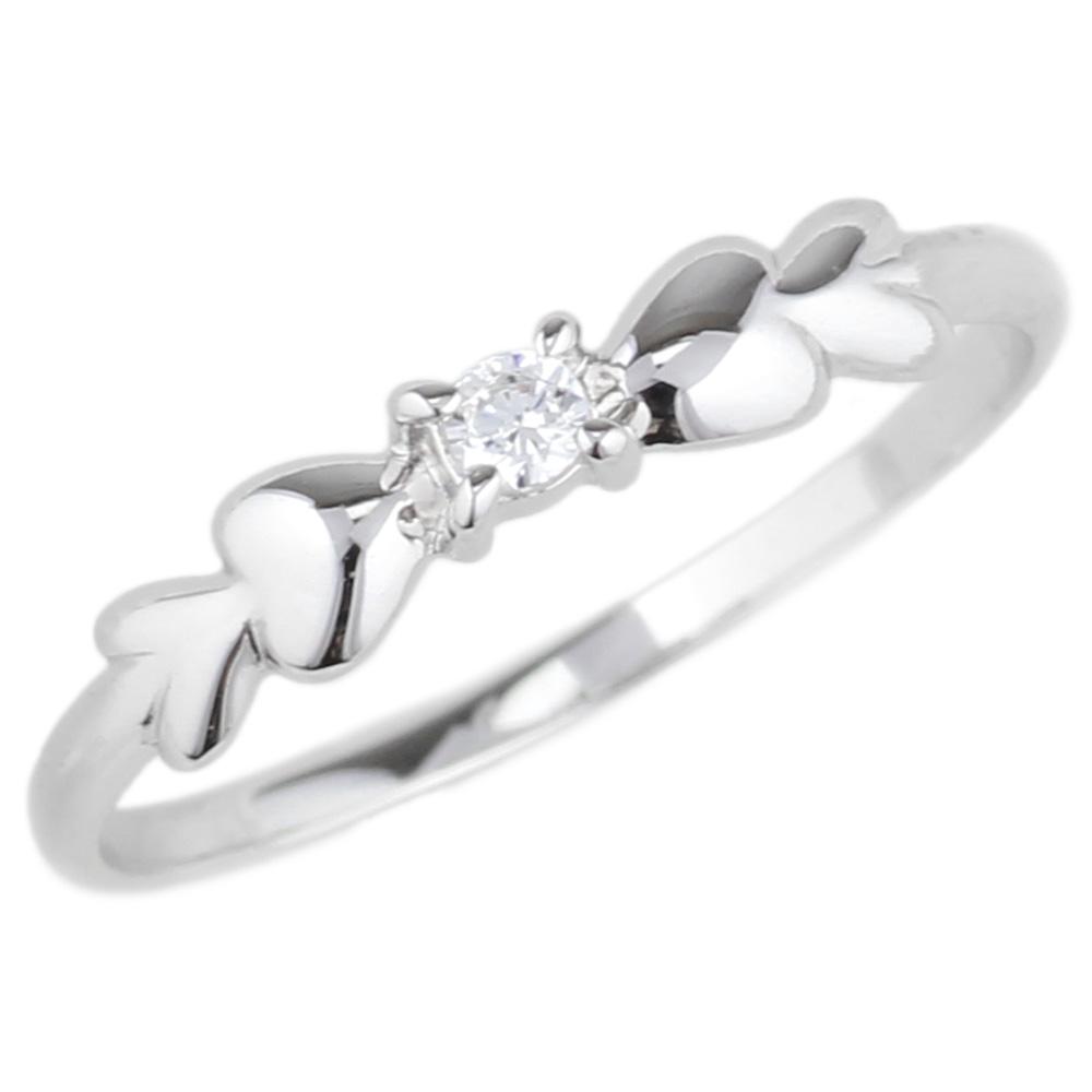 プラチナ900 一粒石 ハート リング ダイヤモンド リング 誕生日 プレゼント 指輪  【送料無料】
