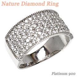 プラチナ900 【送料無料】花 ダイヤリング0.98ct 天然ダイヤモンド 誕生日 指輪 ギフト