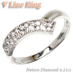 【送料無料】花 ダイヤリング0.21ct K18WG天然ダイヤモンド 誕生日 指輪 ギフト