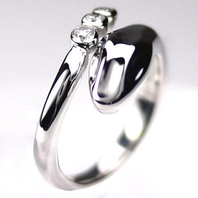 メンズリング スネークリング ダイヤリング スリーストーン ヘビ指輪 K10 ゴールド ギフト 結婚記念日 誕生日 プレゼント 自分ご褒美