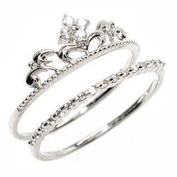 18K K18ゴールド 【送料無料】ティアラ ダイヤリング K18ホワイトゴールド 天然ダイヤモンド ギフト 結婚記念 誕生日 プレゼント 彼女 指輪 ゴールド 自分ご褒美