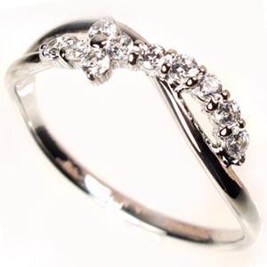 【送料無料】スイート10 クロス ダイヤリング プラチナ900 天然ダイヤモンド ギフト 誕生日 結婚記念 プレゼント 彼女 指輪 プラチナ 自分ご褒美 結婚指輪