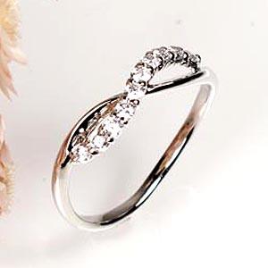 18K K18ゴールド 【送料無料】スイート10 シンプル ダイヤリング K18ホワイトゴールド 天然ダイヤモンド ギフト 誕生日 結婚記念 プレゼント 彼女 指輪 ゴールド 自分ご褒美 結婚指輪