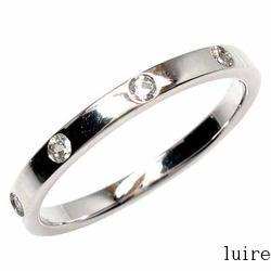 【送料無料】5ストーン ダイヤリング プラチナ900 天然ダイヤモンド ギフト 結婚記念鑑定書 彼女 指輪 プラチナ自分ご褒美