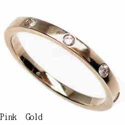18K K18ゴールド 【送料無料】5ストーン ダイヤリング K18PG 天然ダイヤモンド ギフト 結婚記念 誕生日プレゼント 彼女 指輪 ピンクゴールド 鑑定書 自分ご褒美 結婚指輪
