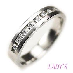 プラチナ900 【送料無料】スウィート10 ダイヤリング結婚指輪 天然ダイヤモンド 鑑別書 誕生日 プレゼント 指輪