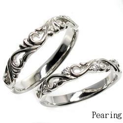 18K K18ゴールド 【送料無料】ダイヤリング すかし模様 K18 ゴールド 天然ダイヤモンド 結婚記念 結婚指輪 誕生日 プレゼント 指輪 ゴールド