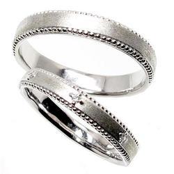 プラチナ900 【送料無料】ペアリング つや消し加工 結婚指輪 天然ダイヤモンド ギフト マリッジ プレゼント