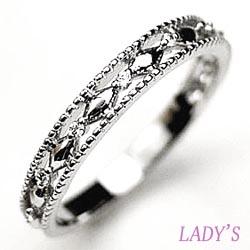 18K K18ゴールド 【送料無料】ダイヤリング 結婚指輪 K18WG 天然ダイヤモンド 結婚記念 ギフト 鑑別書誕生日 プレゼント 彼女 指輪 ゴールド