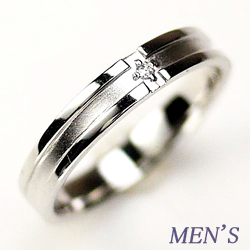18K K18ゴールド 【送料無料】メンズリング 一粒石 クロスリング 指輪天然ダイヤモンド K18ホワイトゴールド 自分ご褒美 指輪 ギフト 誕生日 マリッジリング