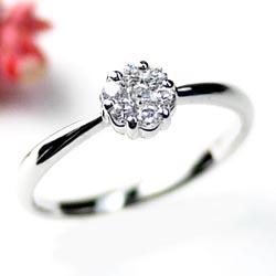 婚約指輪 【送料無料】ダイヤリング0.20ct 花 プラチナ900 誕生日 指輪 プレゼントギフト 彼女 プラチナ 自分ご褒美