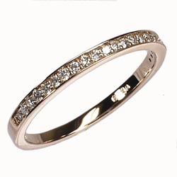 K18ゴールド 【送料無料】エタニティ リング 0.15ct 天然ダイヤモンド 重ね使い K18PG 誕生日 鑑定書 プレゼント ストレート 自分ご褒美 結婚指輪
