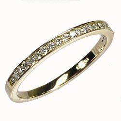 K18ゴールド 【送料無料】エタニティ リング 0.15ct 天然ダイヤモンド 重ね使い K18YG 誕生日 鑑定書 プレゼント ストレート 自分ご褒美 結婚指輪