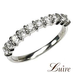 プラチナ900 スイート10 エタニティリング ダイヤリング 天然ダイヤモンド 結婚記念日 エタニティ【luire】