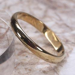 18K K18ゴールド 【送料無料】地金リング K18PG ストレート 結婚指輪 誕生日 シンプル 自分ご褒美