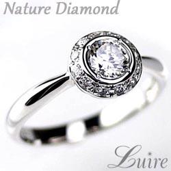プラチナ900 【送料無料】ダイヤモンド0.40ct エンゲージ 天然ダイヤモンド チョコ留 婚約指輪 誕生日 プレゼント 彼女