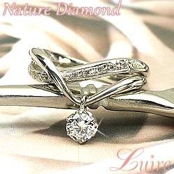 18K K18ゴールド 【送料無料】ブラリング ダイヤ.SIクラス0.40ct 婚約指輪 K18WG 天然ダイヤモンド