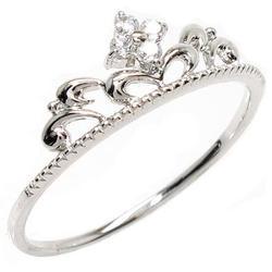 【送料無料】ティアラ ダイヤリング プラチナ900 天然ダイヤモンド ギフト 結婚記念 誕生日 プレゼント 彼女 指輪 プラチナ 自分ご褒美