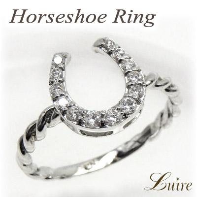 プラチナ900 馬蹄 ホースシュー ダイヤモンドリング 0.20ct エタニティ 誕生日プレゼント彼女 指輪 自分ご褒美 【送料無料】