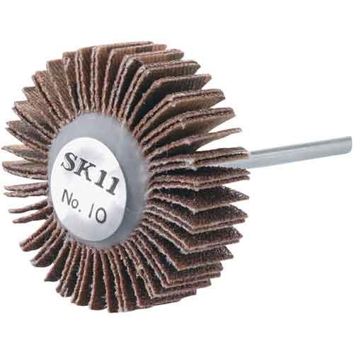 先端工具 ドリルアタッチメントの軸付ペーパー類その他30X10X3 粒度100 サンドペーパーの研磨力と適度な弾性で対象物をなめらかに磨きます 送料別 SK11 評価 メーカー公式ショップ 10P24Oct15 フラップホイルNo.10 30X10X3