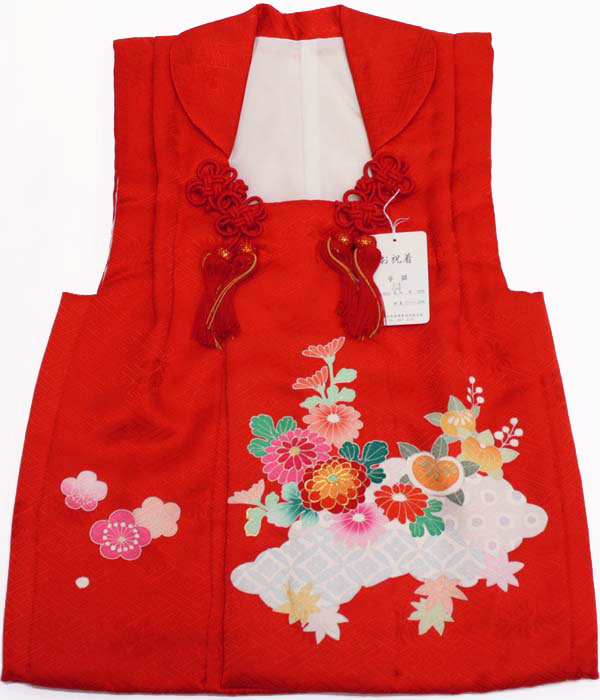 [送料込み]七五三女の子3歳被布コート正絹shi41