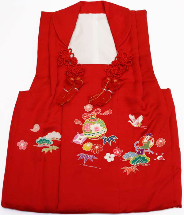 七五三女の子3歳被布コート正絹shi42