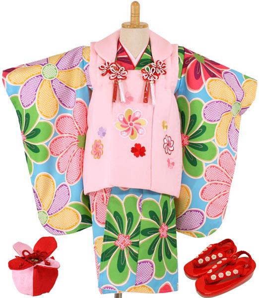 七五三女の子3歳着物8点セットwgm01