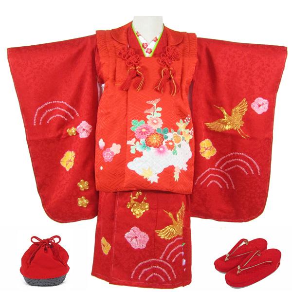 [送料込み]七五三女の子3歳着物8点セット正絹shc02