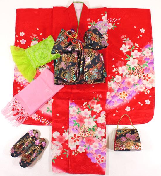 七五三女の子7歳着物20点セット正絹asai03