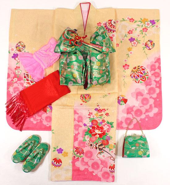 [送料込み]七五三女の子7歳着物20点セット正絹asai17