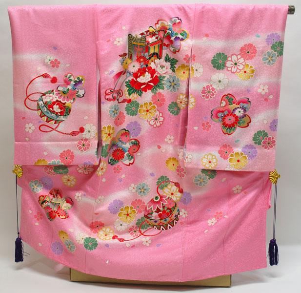 [送料込み]女の子お宮参り着物 ragi08 ピンク