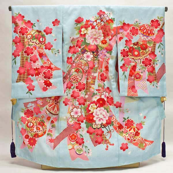 女の子お宮参り着物 kogi02 水色