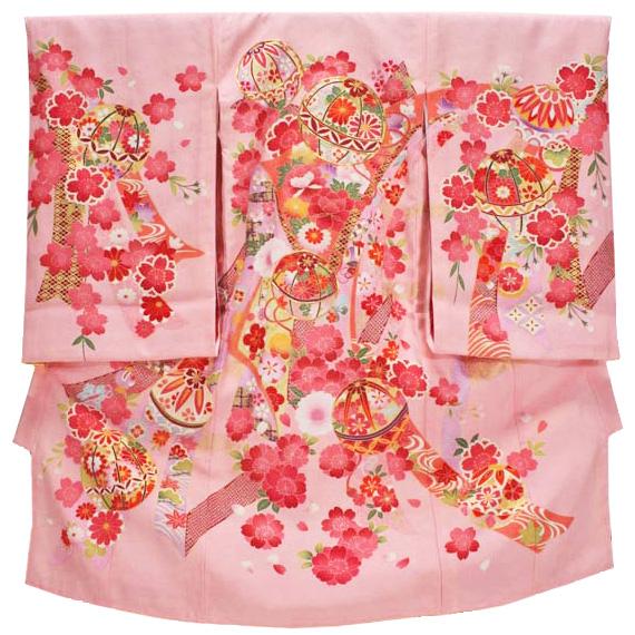 女の子お宮参り着物 kogi05 ピンク